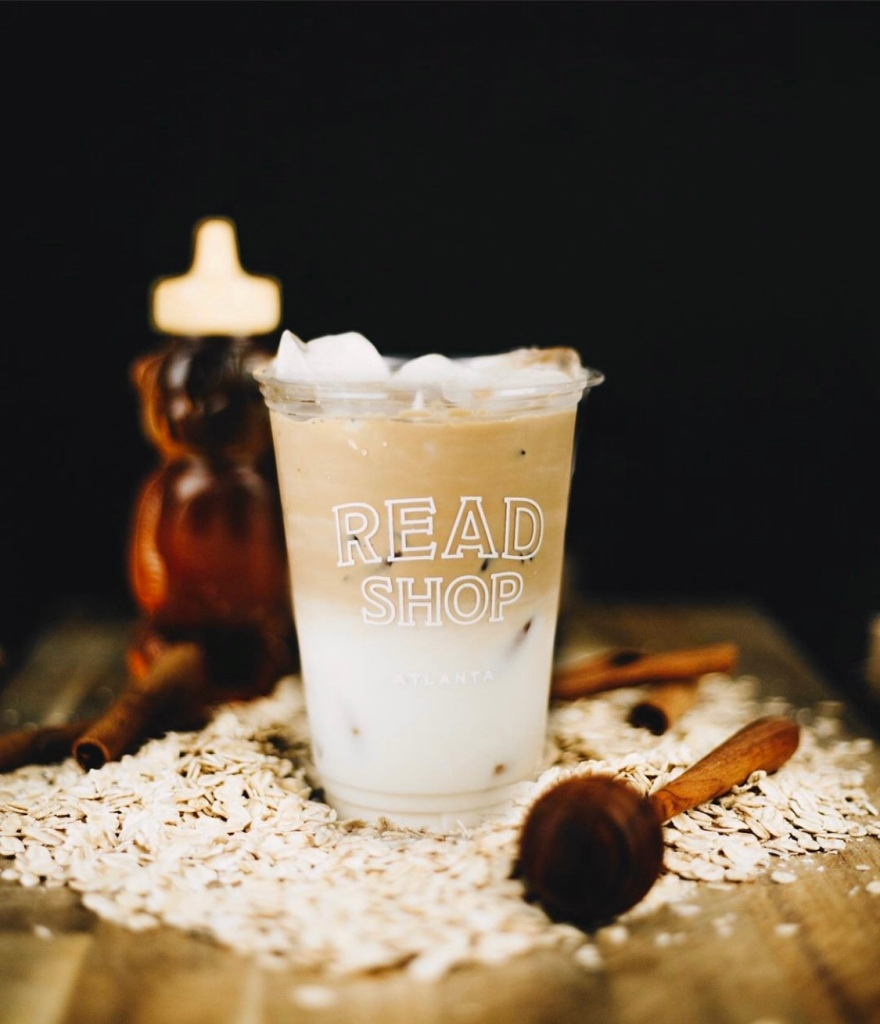 Iced Vanilla Honey Oat Latte - Read Shop